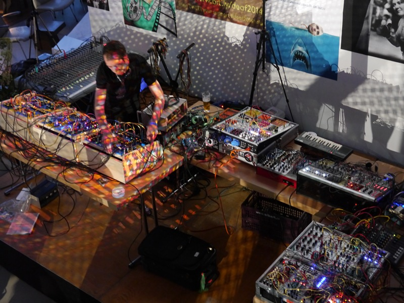 This guy made noises by manipulating analogue waveforms. He doesn't use any digital equipment, but still created electronic sounding tunes