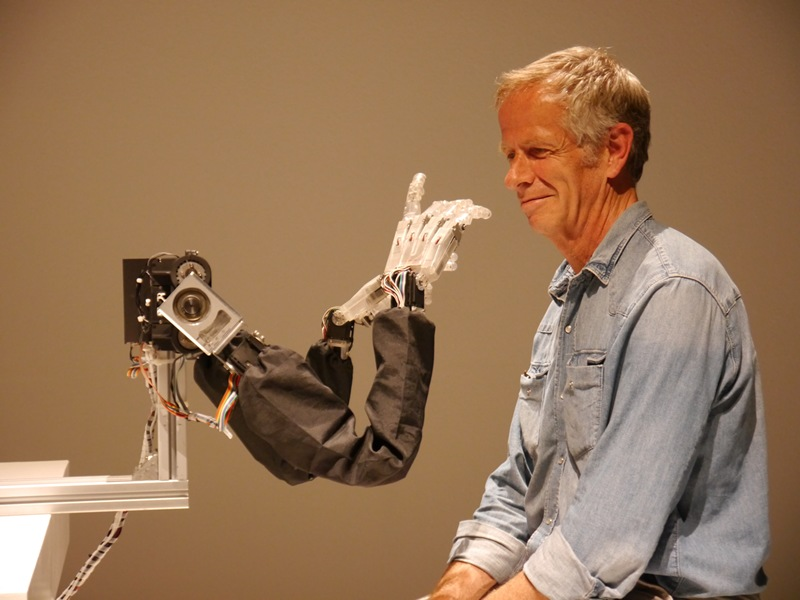 The Dutch Electronic Arts Festival hosts all kind of weird, including this robot that feels your face.