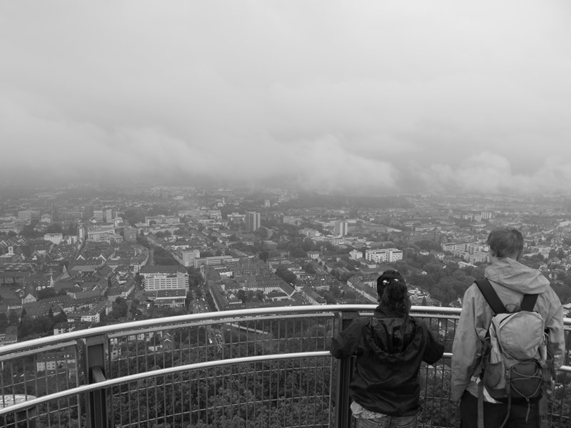 Thomais and Phil overlook Freiburg from the