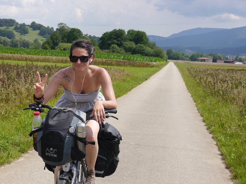 Cycling along the smooth cycle paths across Switzerland