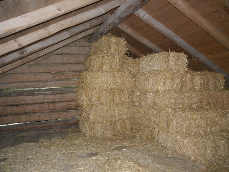 My bed for the night in the roof of a barn.