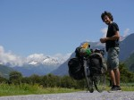Jamie, bike and mountain