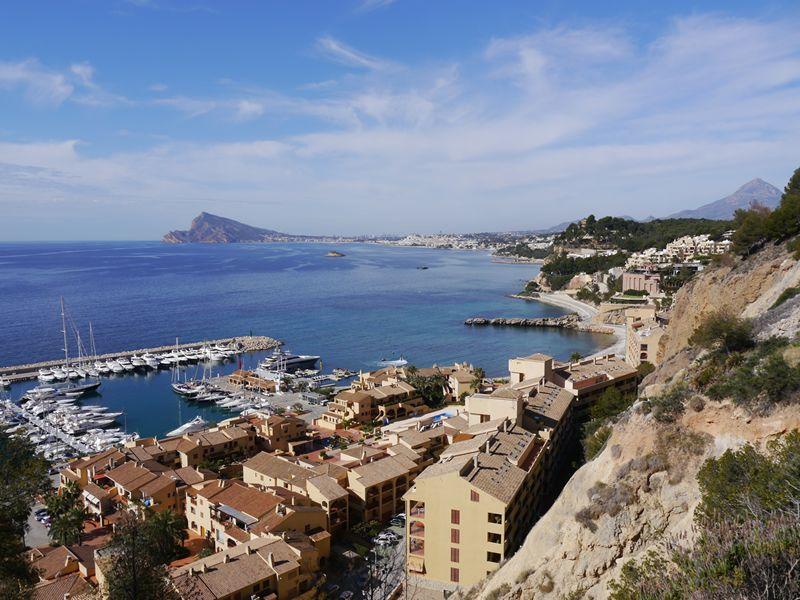 spanish coast over harbour