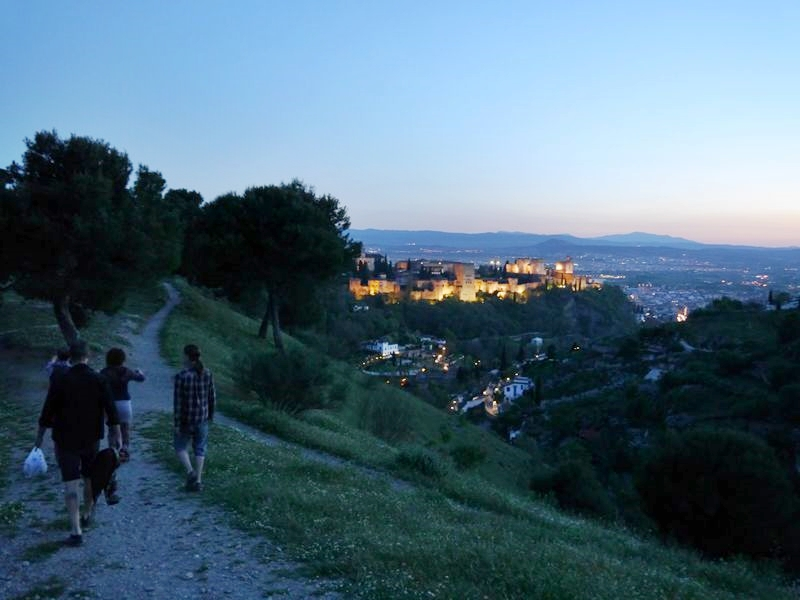walking the hills surrounding Granada