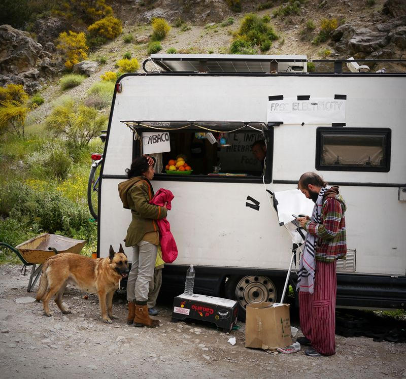 A caravan at Beneficio