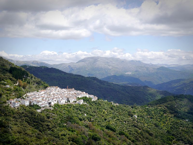 Algatocín in the leafy hills