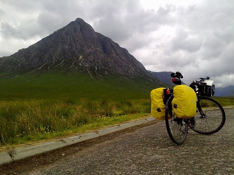 Touring Bike at Glen Coe 2010