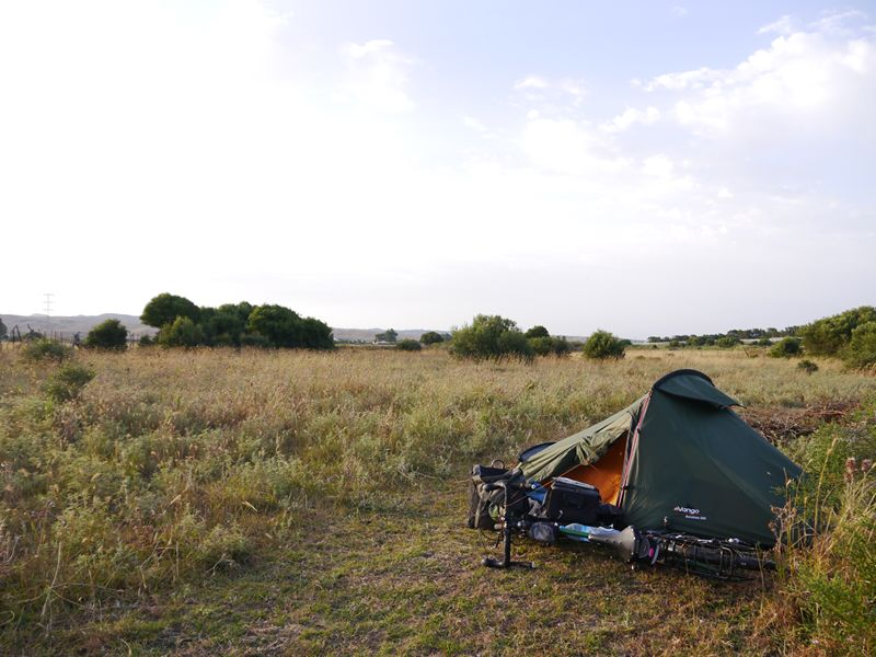 Camping near Tarifa, Spain