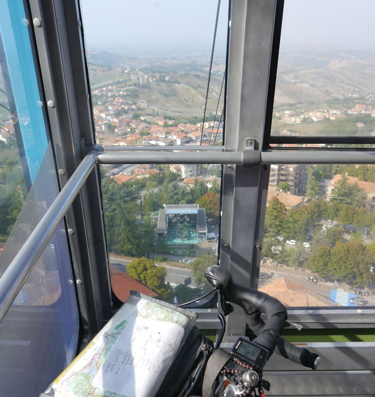the cable car view in San Marino