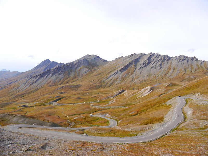 Rocks shaped by many years of harsh winds near the top of Col Agnel.