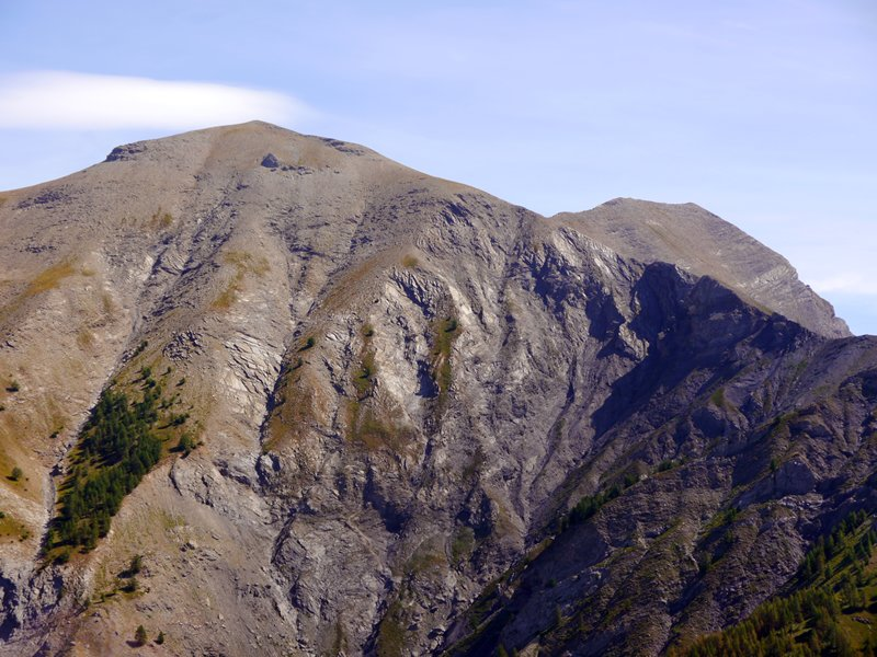 Granite-looking rocks shining in the sun at Col d'Allos