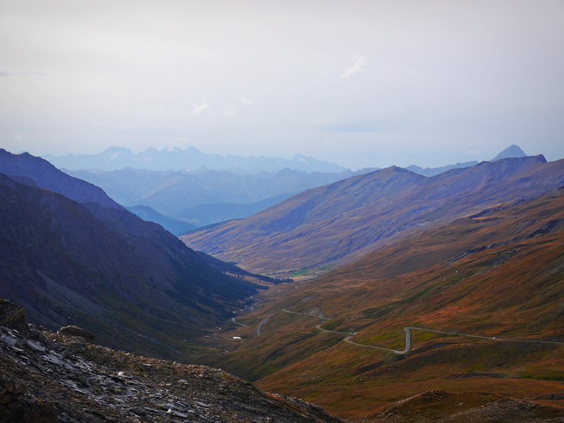 The view from Col Agnle looking towards France