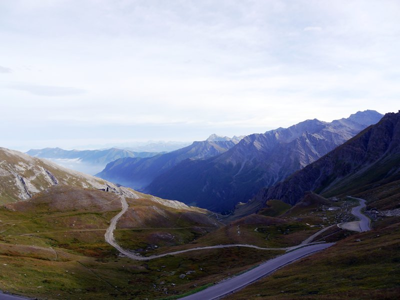 The view from Col Agnle looking towards Italy