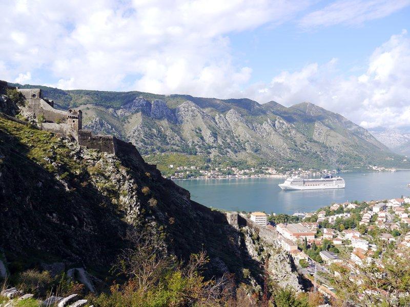 Cruise ship at Kotor, Montenegro