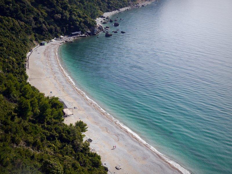 Beach on the coast of Montenegro