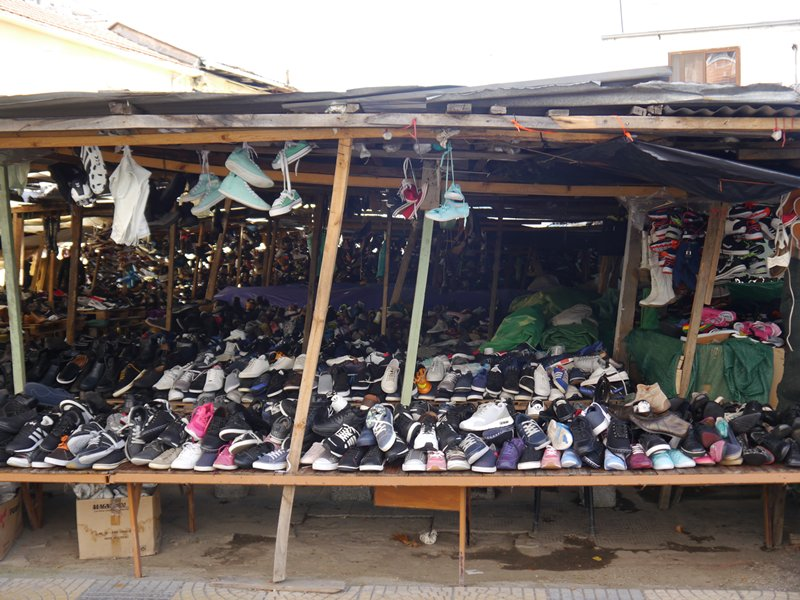 Second hand shoes for sale, Shkoder, Albania