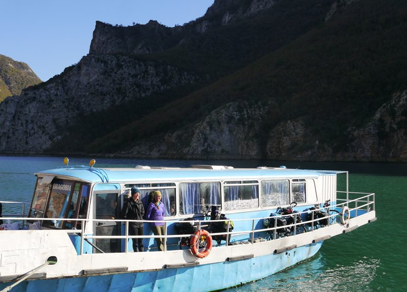Bus boat to Fierza, Albania