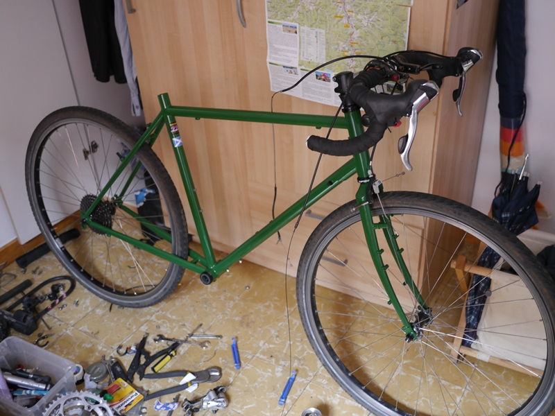 Building my touring bicycle