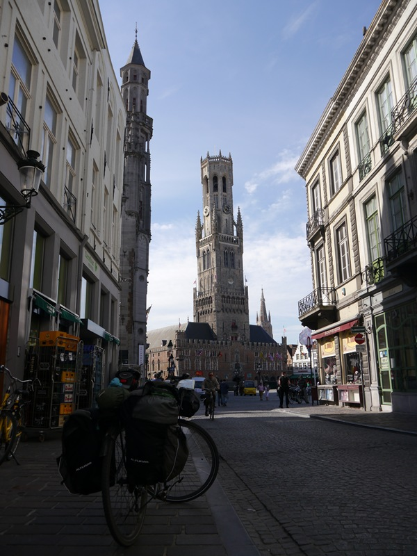 The (evil) clock tower in Brugge