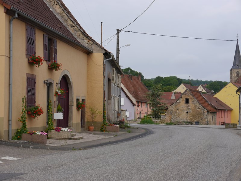 The roads I was taking passed through many small villages like this one in the French countryside.