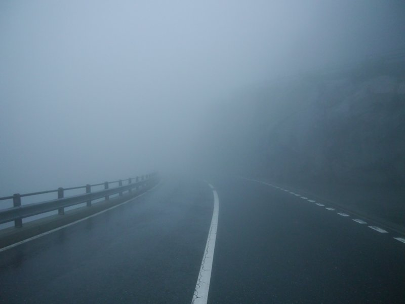 Fog on the Grimsel pass