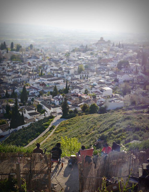 Senegalese men overlooking Granada