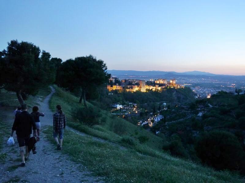 walking the hills surrounding Granada