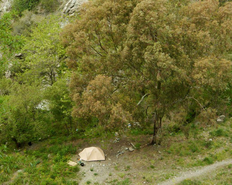 tent at Beneficio