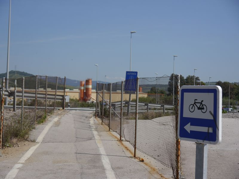 motorway and cycle path