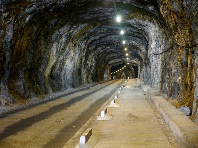 A tunnel through the rock of Gibraltar