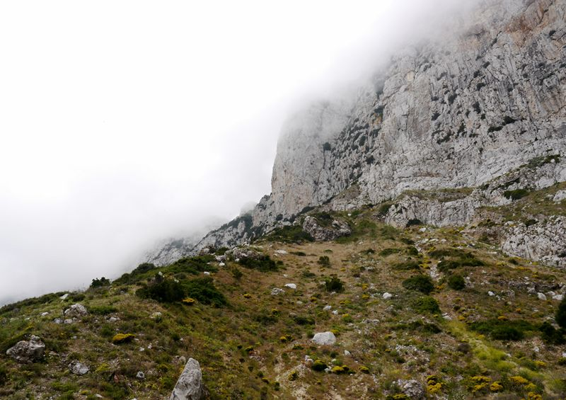 clouds cover Gibraltar