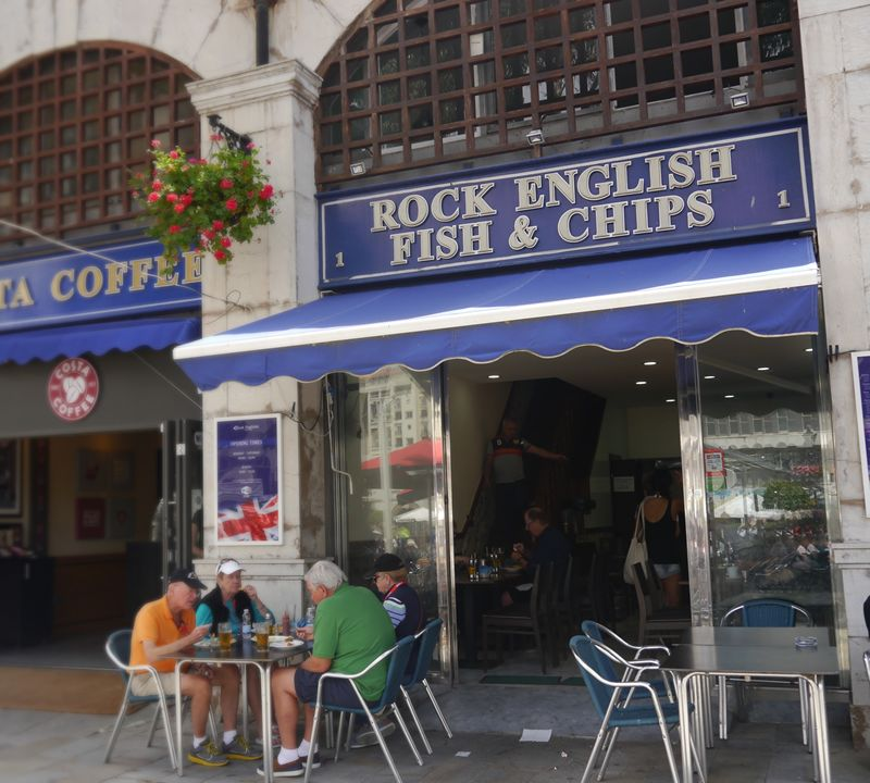 Rock English Fish and Chips in Gibraltar