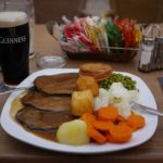 guiness and food in Gibraltar pub