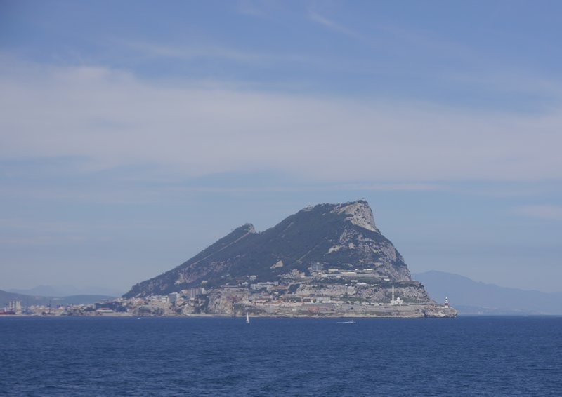 Gibraltar from boat