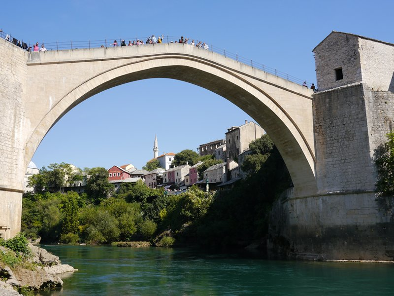 The iconic bridge in Mostar