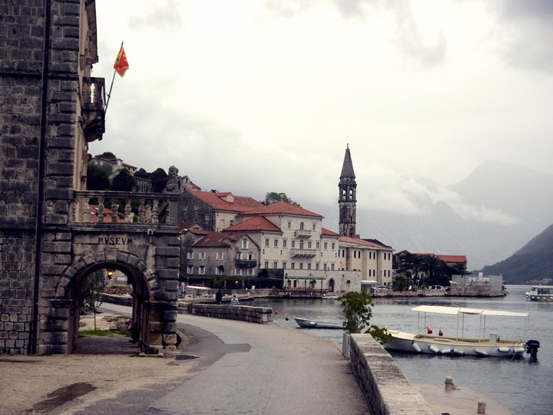Old and preserved town of Perast on the Bay of Kotor.