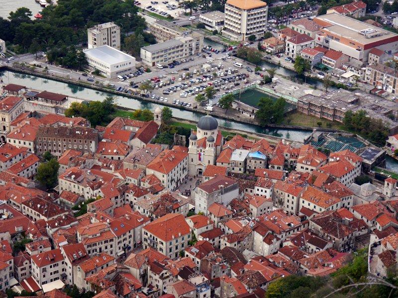 Looking down on Kotor