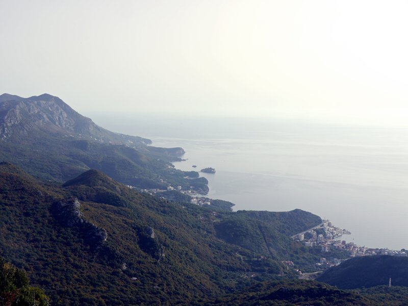 mountains on the coast Montenegro near Budva