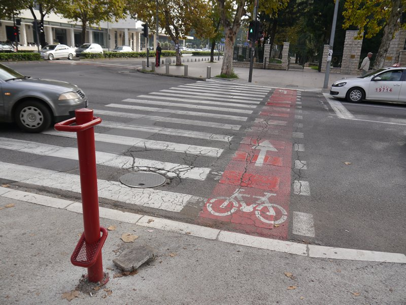 Cycle path in Podgorica.
