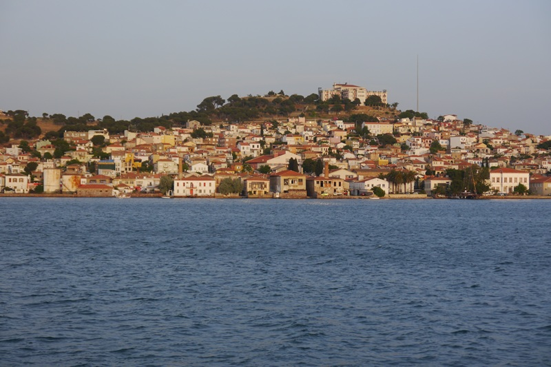 The view from the boat to Ayvalik, Turkey.