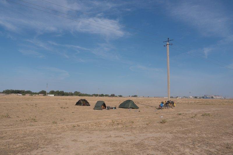 Camping in Karakalpakia, Uzbekistan
