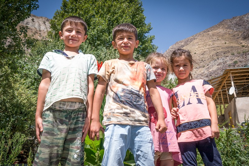 4 children from Tajikistan