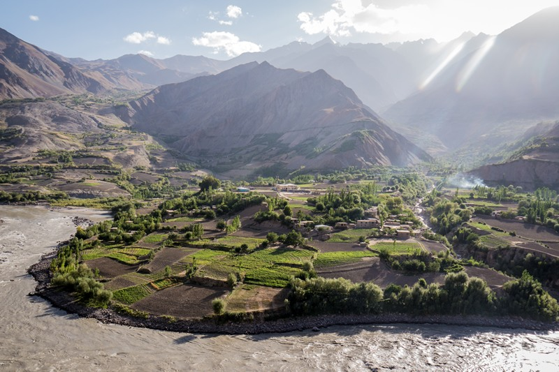 Beautiful green fields in Afghanistan