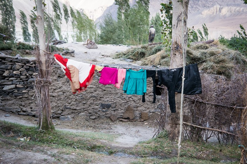 A photo of washing to dry in the Bartang