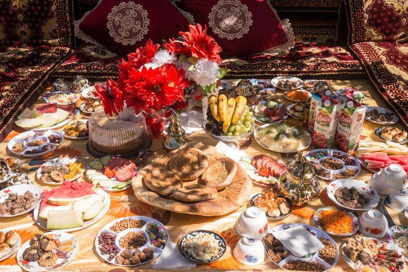 Tajik wedding food