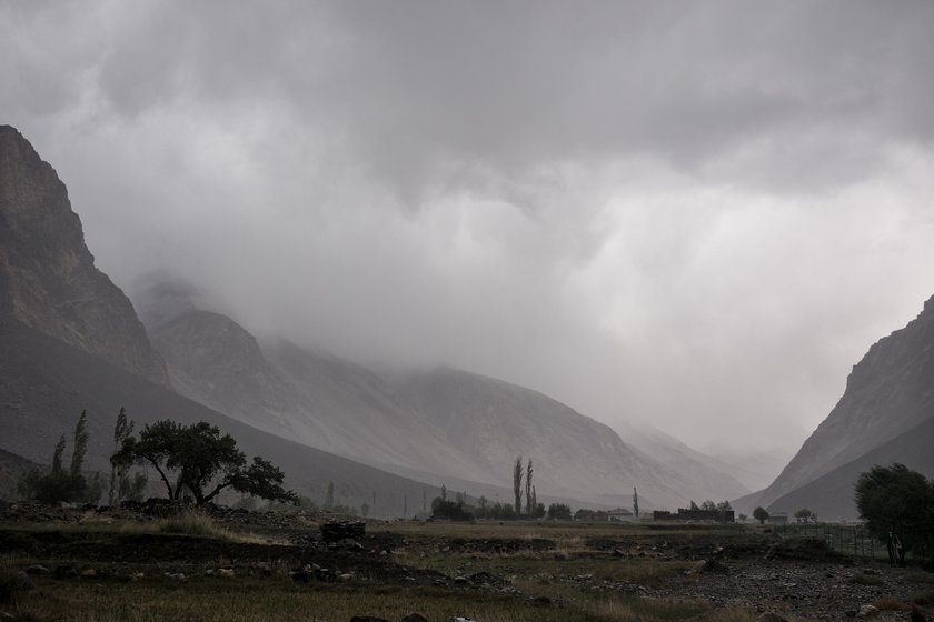 A storm in the Bartang Valley, Tajikistan