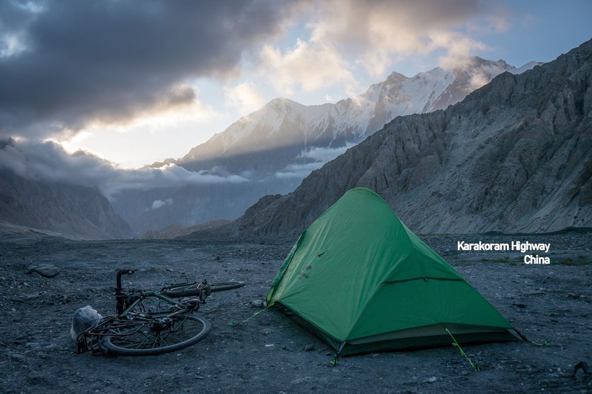 Camping on the Karakoram Highway, China